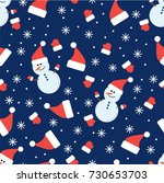 seamless vector pattern. winter ... | Shutterstock .eps vector #730653703