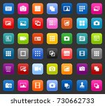 photography icons | Shutterstock .eps vector #730662733