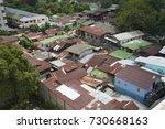 top view of slum roof top in... | Shutterstock . vector #730668163