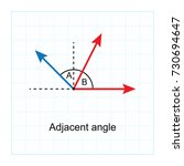 types of angles.  on blue graph ... | Shutterstock .eps vector #730694647