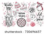 merry christmas and happy new... | Shutterstock .eps vector #730696657