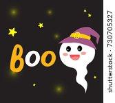 cute halloween design concept... | Shutterstock .eps vector #730705327