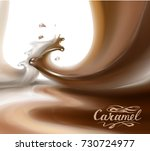 liquid chocolate  caramel or... | Shutterstock .eps vector #730724977