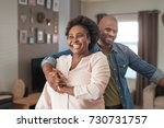 affectionate mature african... | Shutterstock . vector #730731757