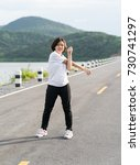 fitness and lifestyle concept   ... | Shutterstock . vector #730741297