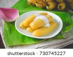 thai style banana in syrup  ... | Shutterstock . vector #730745227