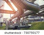 high pressure flow pipeline for ... | Shutterstock . vector #730750177