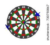 dartboard and darts arrow.... | Shutterstock .eps vector #730750867