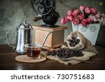 coffee in the morning. still... | Shutterstock . vector #730751683