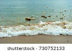 plastic pollution in ocean ... | Shutterstock . vector #730752133