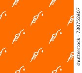 gasoline pump nozzle pattern... | Shutterstock .eps vector #730752607