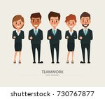 business people teamwork with... | Shutterstock .eps vector #730767877