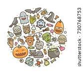 halloween  set of icons....   Shutterstock .eps vector #730768753