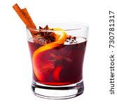 christmas mulled wine isolated... | Shutterstock . vector #730781317