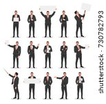 businessman in various poses ... | Shutterstock .eps vector #730782793