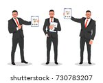 business man shows finance... | Shutterstock .eps vector #730783207
