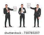 business man shows finance... | Shutterstock .eps vector #730783207