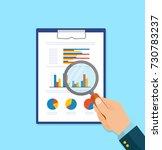 cartoon businessman hands with... | Shutterstock .eps vector #730783237