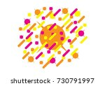 abstract style composition with ... | Shutterstock .eps vector #730791997