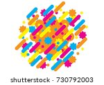 abstract style composition with ... | Shutterstock .eps vector #730792003