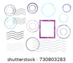 grunge post stamps collection ... | Shutterstock .eps vector #730803283