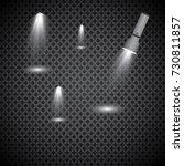 flashlight on a transparent...   Shutterstock .eps vector #730811857