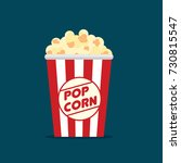 popcorn icon symbol food cinema ... | Shutterstock .eps vector #730815547