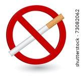 no smoking sign | Shutterstock .eps vector #73082062
