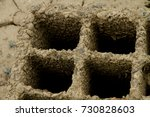 piece of weathered concrete.... | Shutterstock . vector #730828603