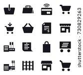 16 vector icon set   basket ... | Shutterstock .eps vector #730829263