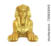 Golden Egyptian Sphinx Statue...