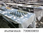 numerous chessboards with black ...   Shutterstock . vector #730833853