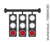 racing semaphore lights | Shutterstock .eps vector #730834183