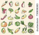 a set of vegetables | Shutterstock .eps vector #730838383
