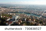 aerial helicopter view lyon...   Shutterstock . vector #730838527