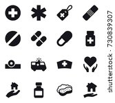 16 vector icon set   real... | Shutterstock .eps vector #730839307