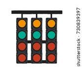 racing semaphore lights | Shutterstock .eps vector #730839397