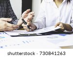 asian business adviser meeting... | Shutterstock . vector #730841263