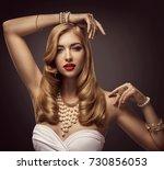 woman beauty portrait  fashion... | Shutterstock . vector #730856053