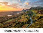 vibrant sunrise at quiraing on... | Shutterstock . vector #730868623