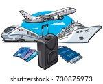 illustration of transport for... | Shutterstock .eps vector #730875973