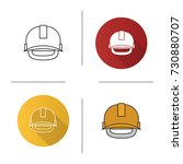industrial safety helmet icon....