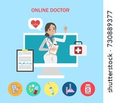 Online Doctor Concept. Young...