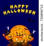 happy halloween | Shutterstock . vector #730898713
