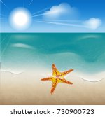 illustration of a beach on the... | Shutterstock . vector #730900723