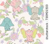 vector seamless pattern with... | Shutterstock .eps vector #730901503