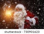 santa claus face  | Shutterstock . vector #730901623