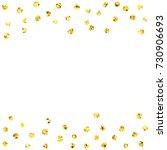 shiny golden glitter circles... | Shutterstock .eps vector #730906693