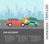 car accident template. street... | Shutterstock .eps vector #730911283