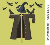 garden ugly terrible fabric... | Shutterstock .eps vector #730913773